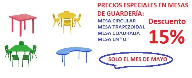 Mesas de guardería