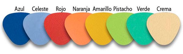 Carta colores tacto piel
