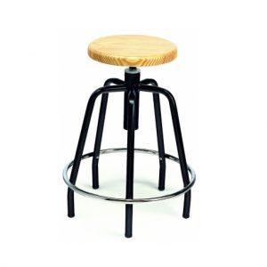 EATACR1700GM-taburete giratorio-asiento-madera
