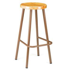 EATACR1600-Taburete con asiento de madera