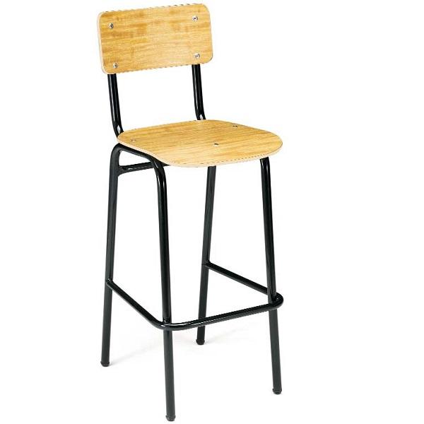 Silla alta de formica 1699 mobiliario escolar - Sillas formica ...