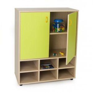 EMMAMB600810 Mueble intermedio armario arriba-con-2-puertas-y-4-6-casillas
