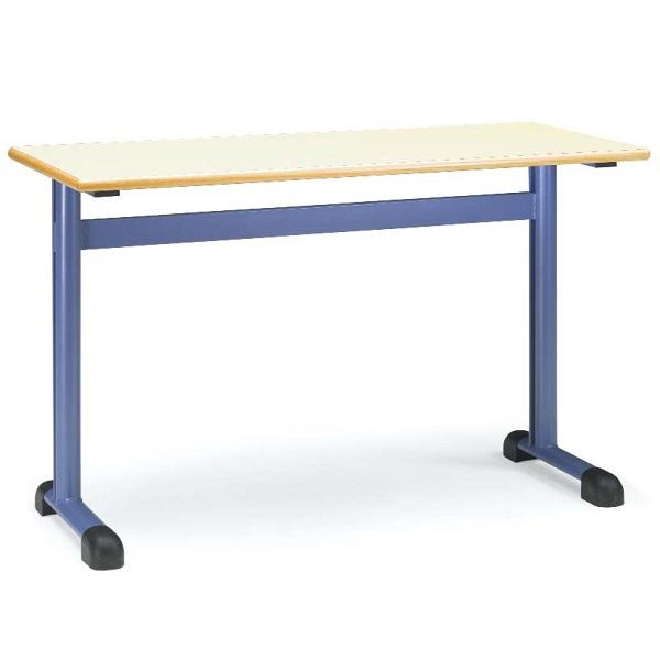 Pupitre bipersonal 496 doble mobiliario escolar for Mobiliario escolar medidas