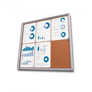 Vitrinas de anuncios Vitrinas de anuncios corcho con cierre XS