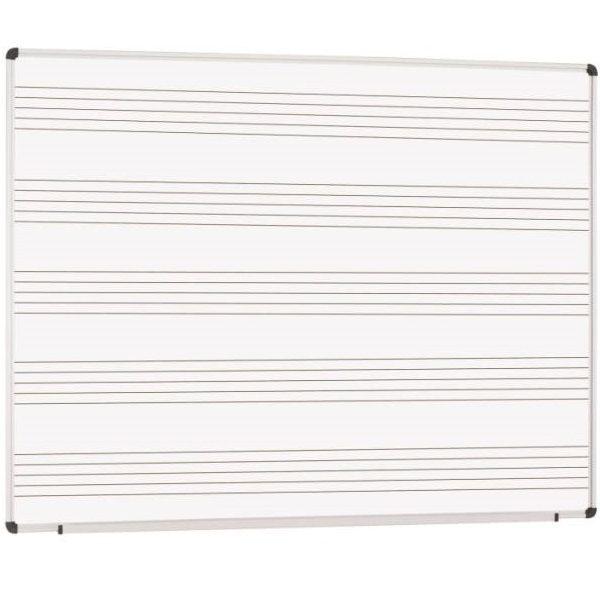 EPPIMA120x-Pizarra pauta musical de acero vitrificado blanco