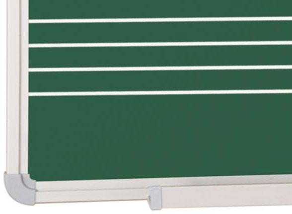EPPIMA132x-Pizarra pauta musical de acero vitrificado verde