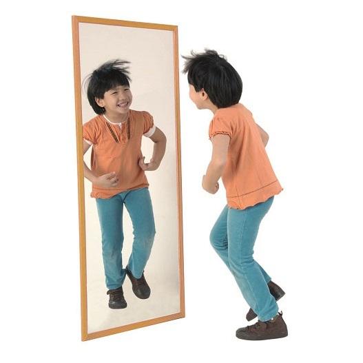 IAESHE996-E y F Espejo infantil Marco haya natural