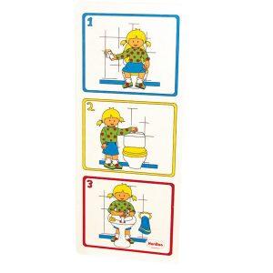 IAJDHE819-Cartel pictorico higiene aseo niña