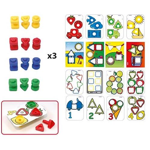 IAJDIM1-31759 pack 16 actividades tornillos y tuercas Activity tornillos y tuercas