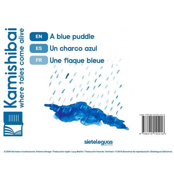 Un charco azul
