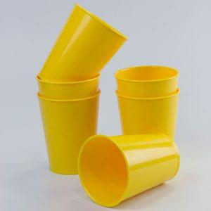 vasos-amarillos- Vasos de plástico ABS