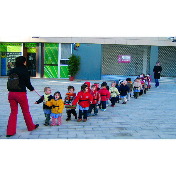 Seguridad infantil en la escuela - Cuerda de seguridad para transporte con cinturón