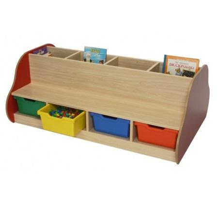 IMBIMB602109-Banco librería doble-8-niños