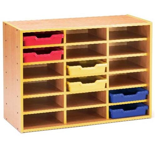 IMMACR6404-armario de madera con 18 huecos