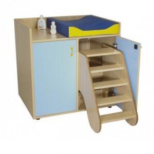 IMMCMB600708-Mueble cambiador con escalera giratoria