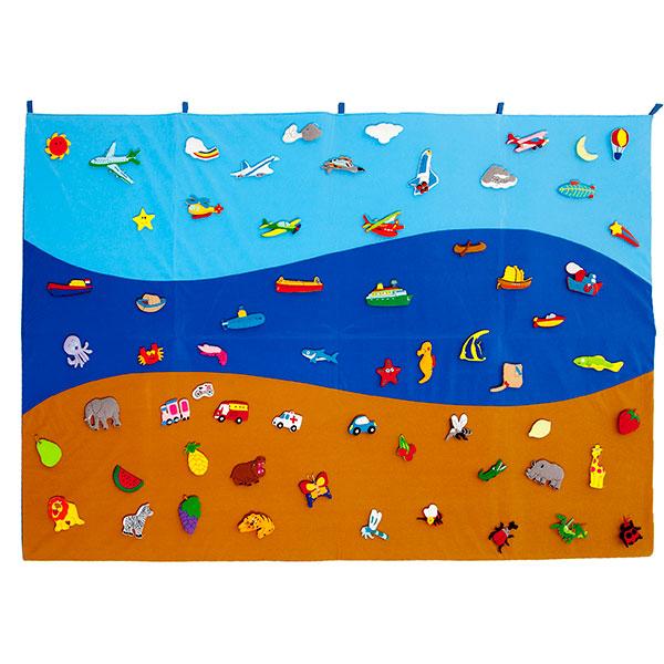 Tapiz mar tierra y aire