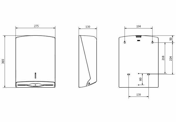 Dispensador papel zig-zag Azur blanco