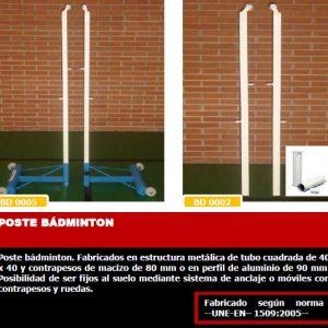 mobiliario escolar badminton