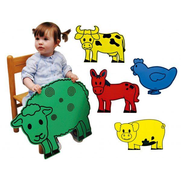 Animales gigantes de la granja